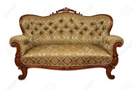 Old Fashioned Sofa Styles Antique Sofa Rococo Style Isolated On White Stock Photo Picture