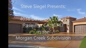 Single Story Houses Single Story Homes For Sale In Morgan Creek Roseville Ca Golf