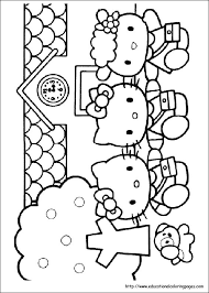 kitty coloring pages free kids