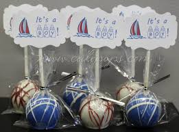 anchor theme baby shower candy s cake pop tagged baby shower favors candy s cake pops