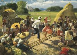 painting tinikling by fernando amorsolo oil on canvas my hubby had to make one yesterday to bring back at home
