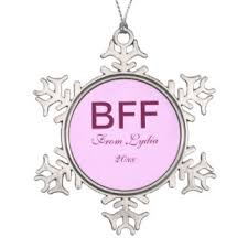 bff best friends forever ornaments keepsake ornaments zazzle