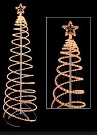 cool and opulent rope light trees outdoor chritsmas decor