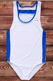 swimwear white l hit color letters logo pattern u convex pouch