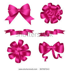 pink ribbon bow stock images royalty free images vectors