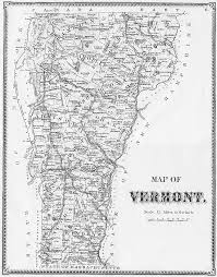 State Of Vermont Map by Early Vermont Maps