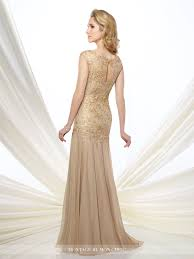 modern mother of the bride dresses tea length with sleeves chiffon and metallic fit u0026 flare gown montage by mon cheri 216962