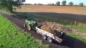 new idea john deere 4010 on new idea 3639 manure spreader haul blade