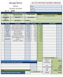 Free Car Repair Estimate by Auto Repair Work Order Template Free