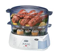 electricit cuisine amazon com oster 5712 electronic 2 tier 6 1 quart food steamer