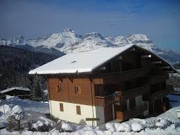 20 m from the slopes apartment with garage combloux haute savoie