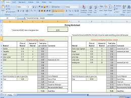 Wholesale Price Sheet Template Pricing Worksheet Calculates Wholesale And Retail Price On