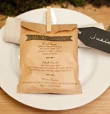 prã sentation menu mariage le sachet en papier menu pour bapteme communion ou mariage