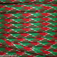 christmas pattern red green christmas camo red green paracord 50 foot bracelet cing