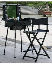 portable lighting for makeup artists 2 pieces makeup with lights and aluminum makeup chair