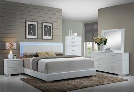 coaster felicity led platform 4 pc bedroom set las vegas furniture