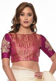 silk blouses embroidered brocade silk blouse in fuchsia ukx105
