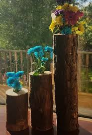 Log Vases Log Flower Vase Reservoir Logs