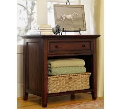 pottery barn bedside table hudson wide nightstand pottery barn