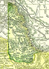 Idaho State Map by The Usgenweb Archives Digital Map Library Idaho Maps Index