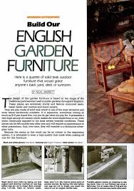 Outdoor Furniture Plans by English Garden Furniture Plans U2022 Woodarchivist