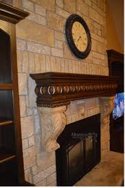 faux stone fix to fireplace mantle kansas city kitchen cabinet