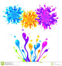 blue and green vivid color paint splash vector stock vector