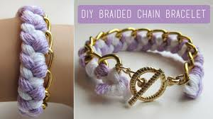 diy bracelet with chain images Diy braided chain bracelet easy affordable jpg
