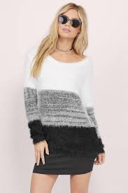 white u0026 black sweater white sweater long sleeve sweater 16