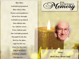 funeral help program yellow candle funeral program template funeral program template