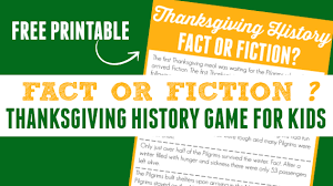 thanksgiving history fact or fiction activities for