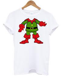 elf neck t shirt christmas present festive santa helper gift