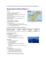 guide to activity holidays efl