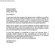 sample apology letter to employer the letter sample