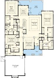dual master bedroom floor plans dual master suite energy saver 33095zr architectural designs