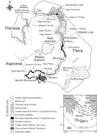Map Of Santorini Greece by Interplinian Explosive Activity Of Santorini Volcano Greece