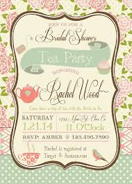 templates exquisite tea party bridal shower invitations sayings
