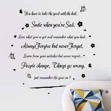 popular wall stickers words decor buy cheap smile when you are sad inspirational quotes art decal decor wall lettering words sticker
