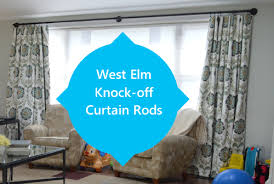 Turquoise Curtain Rod Make Your Own West Elm Look A Like Industrial Curtain Rod Diy