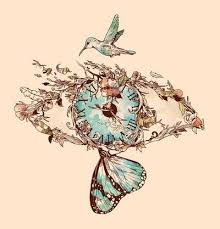 ahhhh butterfly hummingbird feathers and branches all in one