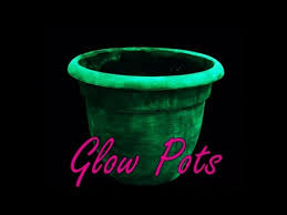 Glow In The Dark Home Decor Diy Glow In The Dark Planter Pots Youtube