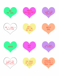 free galentine u0027s day conversation heart printables the perfect