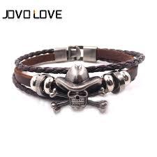 charm bracelet for handmade jewelry vintage skull bracelets woven leather bracelet