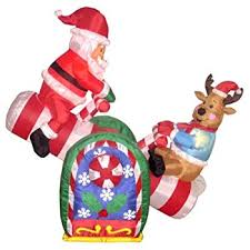 amazon com 4 foot animated christmas inflatable santa claus and