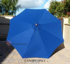 8 Ft Patio Umbrella Market Patio Umbrella Replacement Cover Canopy 8 Ribs Royal Blue