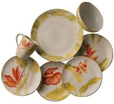 palm tree dinnerware sets stunning java dinnerware set