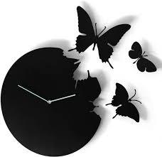 black butterfly clock wall clocks