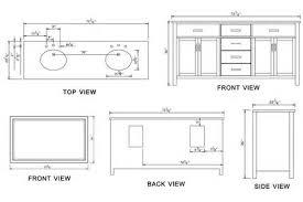 Standard Height Of Bathroom Mirror by Bathroom Vanity Cabinet Dimensions Tsc
