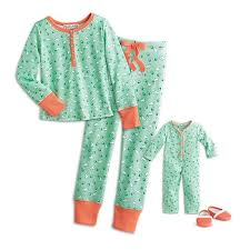 kit s puppy print pajamas for dolls american