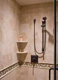 corner shower shelf bathroom traditional with accent tile corner